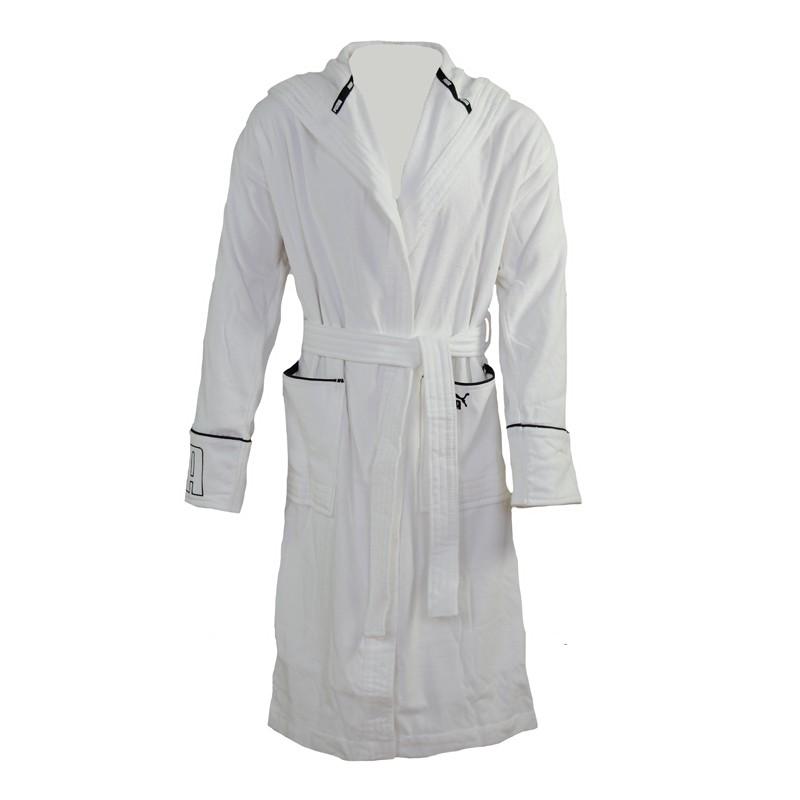 puma herren bademantel foundation bathrobe white wei ebay. Black Bedroom Furniture Sets. Home Design Ideas