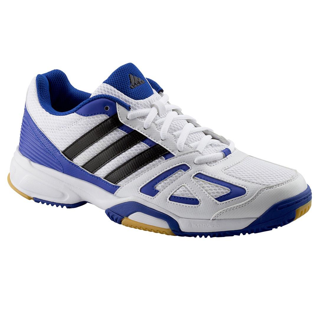 adidas speedcourt 6 men herren hallenschuhe weiss blau. Black Bedroom Furniture Sets. Home Design Ideas
