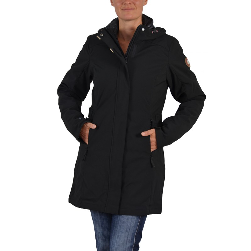 icepeak damen softshellmantel 3in1 lumina mantel schwarz doppeljacke jacke ebay. Black Bedroom Furniture Sets. Home Design Ideas