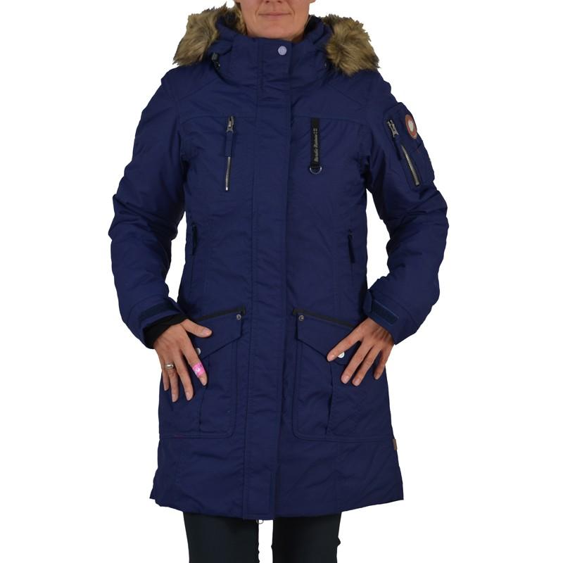 icepeak wintermantel lyydia jacke dunkel blau damen mantel. Black Bedroom Furniture Sets. Home Design Ideas