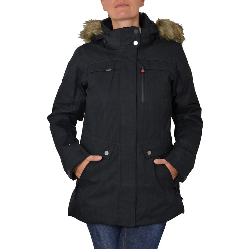icepeak damen winterjacke luna schwarz anthrazit jacke damenjacke ebay. Black Bedroom Furniture Sets. Home Design Ideas