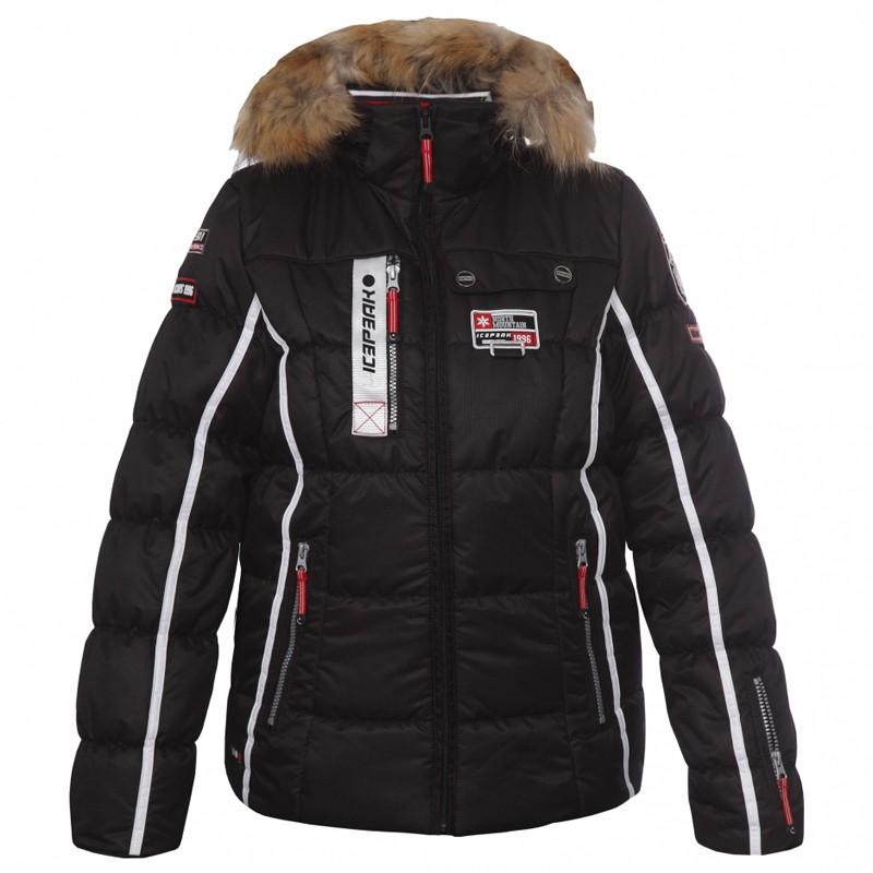 icepeak damen skijacke winterjacke jacke tuwa schwarz ebay. Black Bedroom Furniture Sets. Home Design Ideas