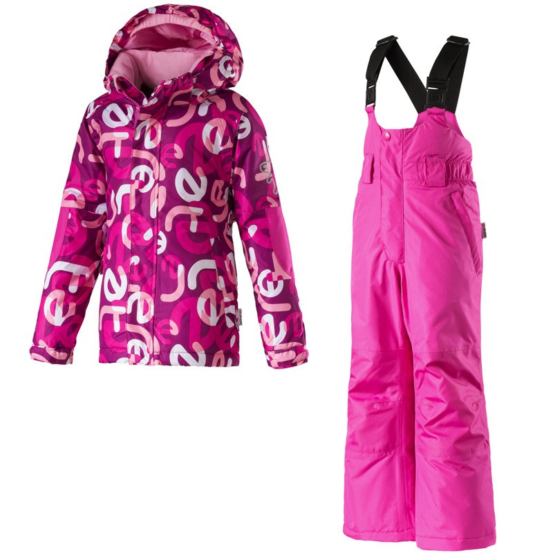 etirel kinder winter schneeanzug kids habibi pink dark overall ski ebay. Black Bedroom Furniture Sets. Home Design Ideas