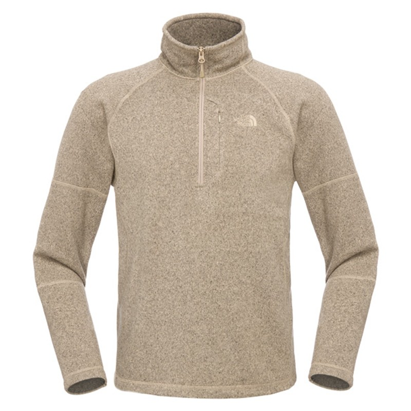 The-North-Face-Herren-Gordon-Lyons-1-4-Zip-Fleece-Pullover-Dune-Beige-Heather