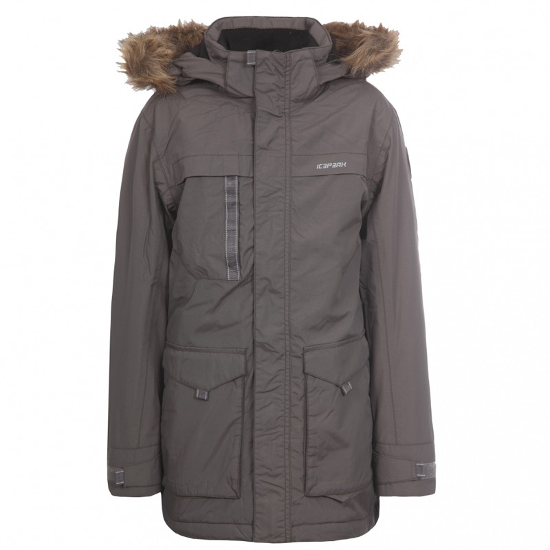 icepeak kinder parka kasper winterjacke jungen boys jacke bleigrau ebay. Black Bedroom Furniture Sets. Home Design Ideas