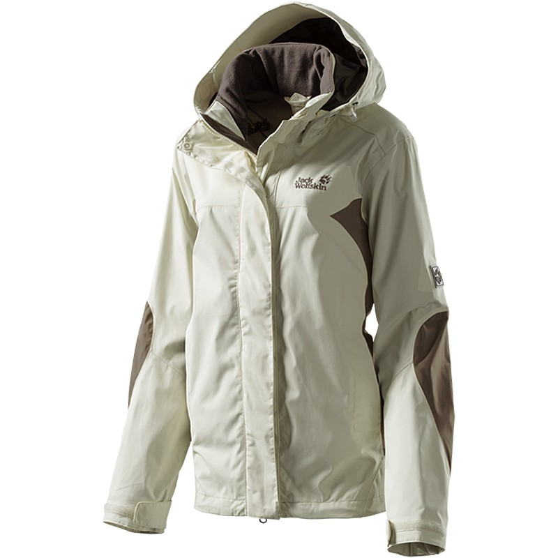 jack wolfskin onyx damen sommerjacke jacke wetterschutzjacke white sand ebay. Black Bedroom Furniture Sets. Home Design Ideas