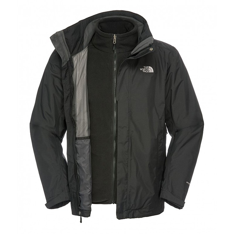the north face mens evolve ii tnf black gr xl 3in1 jacke. Black Bedroom Furniture Sets. Home Design Ideas