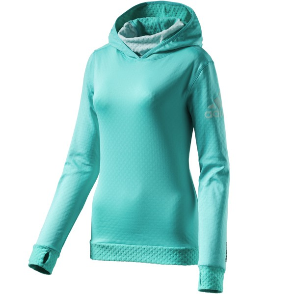 adidas climaheat hoody womant damen laufshirt runningshirt. Black Bedroom Furniture Sets. Home Design Ideas