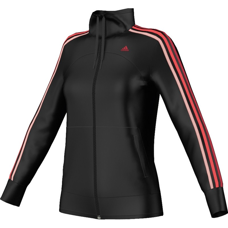 adidas damen sweatjacke track top jacke firebird tt g87401 black white. Black Bedroom Furniture Sets. Home Design Ideas
