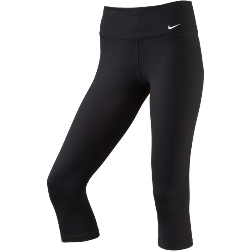 nike damen legend tight fitnesshose 3 4 sporthose schwarz. Black Bedroom Furniture Sets. Home Design Ideas